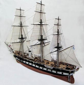 Модель парового фрегата Олег ручной работы