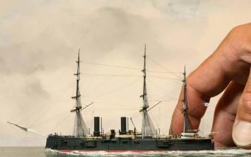 модель крейсера Владимир Мономах 5