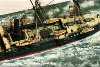 модель корабля Владимир Мономах ручной работы