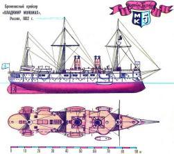 схема модели крейсера Владимир Мономах