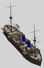 3d модель  крейсера Владимир Мономах