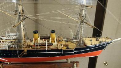 модель корвета Витязь II ручной работы из музея Океана