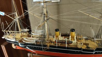 Авторская модель корабля Витязь II из музея Океана
