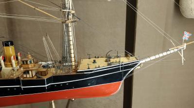 модель корабля Витязь II ручной работы из музея Океана
