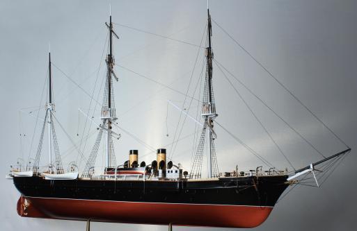 модель корабля Витязь II ручной работы