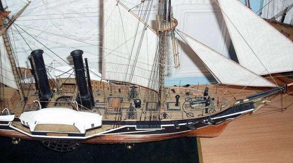 Авторская модель пароходо-фрегата Владимир ручной работы