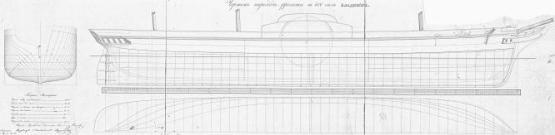 Чертежи пароходо-фрегата Владимир, теория