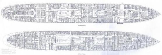 Чертёж модели парохода Адмирал Нахимов. 5