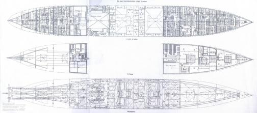 Чертёж модели парохода Адмирал Нахимов. 7