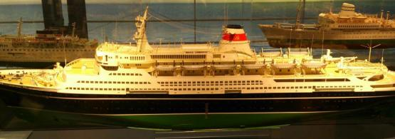 Музейная модель лайнера  Александр Пушкин