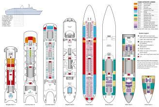 Планы палуб лайнера Marco Polo