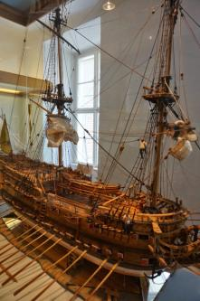 модель фрегата Терезия ручной работы