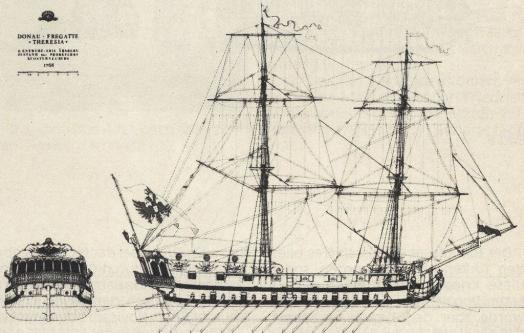 чертёж фрегата Терезия