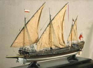 Авторская модель галеры Двина