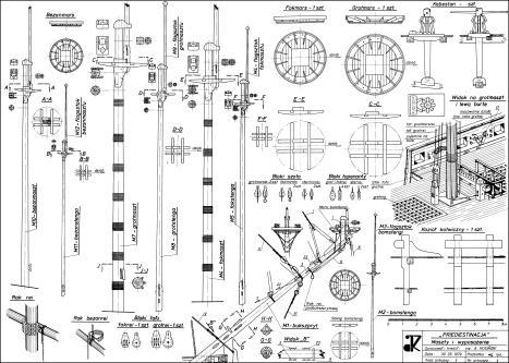 Чертёж модели корабля  Гото Предестинация, мачты