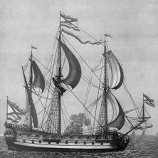 гравюры корабля  Гото Предестинация бок