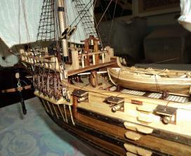 Модель фрегата Петр и Павел ручной работы