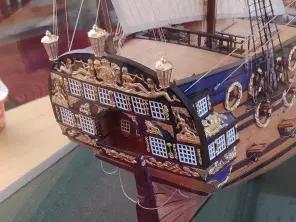 Модель корабля Полтава ручной работы