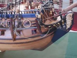 Модель корабля Полтава ручной работы. нос