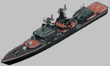 3d модель корабля пр. 1155
