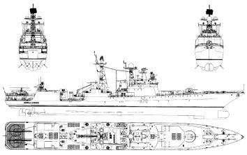 Готовые модели кораблей. Чертежи. БПК Адмирал Харламов.