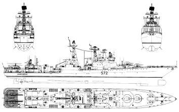 Автоские модели-копии кораблей. Чертежи. БПК Адмирал Виноградов.