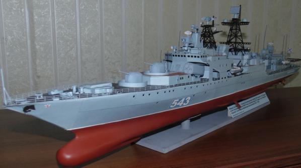 Авторская модель корабля Адмирал Левченко