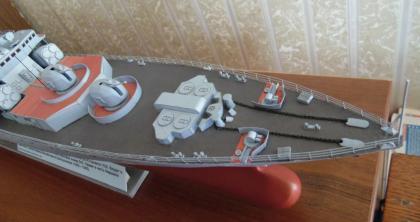 модель корабля Адмирал Левченко  ручной работы 6