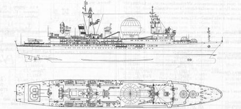 Чертёж модели корабля Маршал Крылов