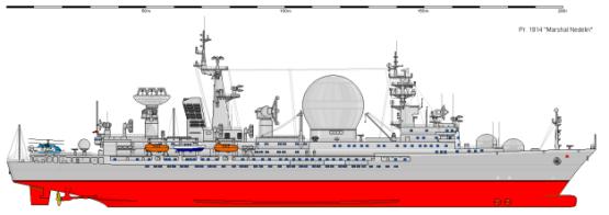 Модель корабля пр. 1914 Маршал Неделин