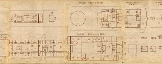Модель корабля пр. 1914 Маршал Крылов. Рубки и Площадки мачт