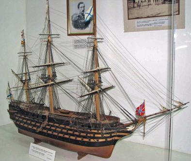 Музейная Модель корабля Двенадцать Апостолов. общий вид