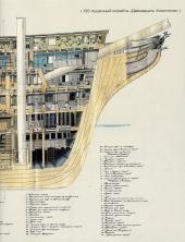 Чертёж модели корабля Двенадцать Апостолов. разрез 4 нос