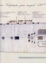 Чертёж модели корабля Двенадцать Апостолов. План шканцы