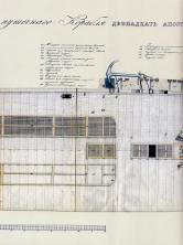 Чертёж модели корабля Двенадцать Апостолов. План шкафут