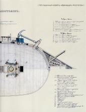 Чертёж модели корабля Двенадцать Апостолов. План бак