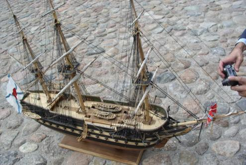 Авторская модель корабля Азов
