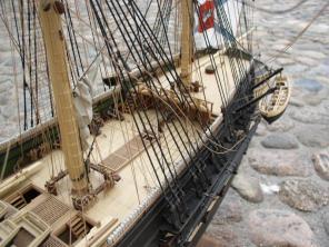 модель корабля Азов  ручной работы 6