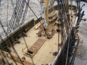 модель корабля Азов ручной работы 9