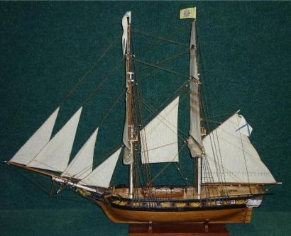 Авторская модель яхты «Нева»