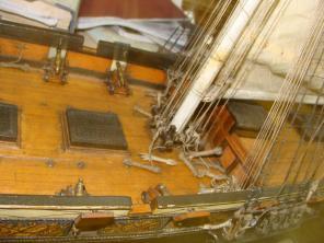 яхта «Нева» модель корабля ручной работы