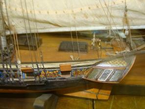 модель яхты «Нева» ручной работы