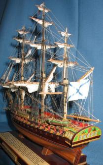 модель фрегата «Паллада» ручной работы