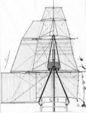 Чертёж модели корабля Великий Князь Константин.