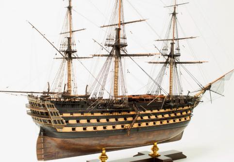 Модель корабля Великий Князь Константин. общий вид с кормы