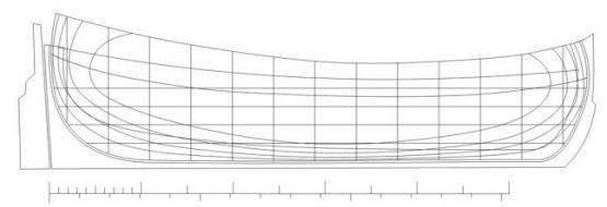 Чертёж модели бота Святой Гавриил,  План палубы