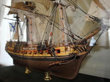 Модель фрегата Святой Николай ручной работы, нос