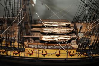 Авторская модель фрегата Святой Николай. шкафут