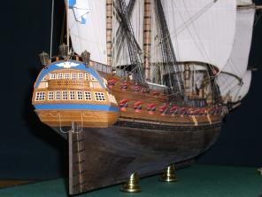 Авторская модель фрегата Святой Николай. корма