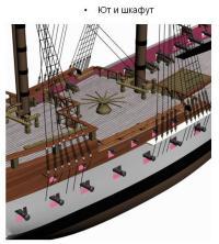 3d модель фрегата Святой Николай. 11